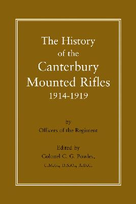 The History of the Canterbury Mounted Rifles, 1914-1919