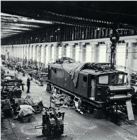 Christchurch To Lyttelton Suburban Ec Electric Locomotive Undergoing Maintenance In The Addington Workshops