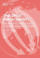 Catalogue record for 'The Great Replacement' The Violent Consequences of Mainstreamed Extremism