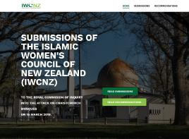 Catalogue record for Submissions of the Islamic Women's Council of New Zealand (IWCNZ) to the Royal Commission of Inquiry Into the Attack on Christchurch Mosques on 15 March 2019