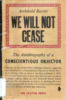 Cover of We will not cease