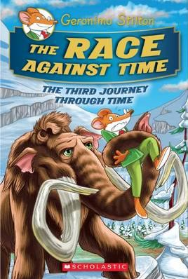 Cover pf The race against time by Geronimo Stilton