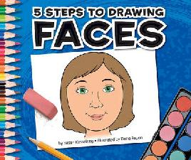 Cover of 5 steps to drawing faces