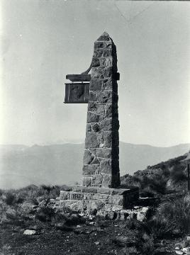 Plinth Of The Sign Of The Kiwi, Dyers Pass, Port Hills, Christchurch