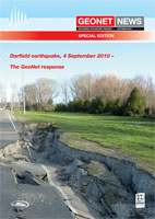 Book cover of Darfield earthquake geonet response